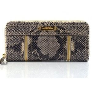 Michael Kors Moxley Python Embossed Leather Wallet